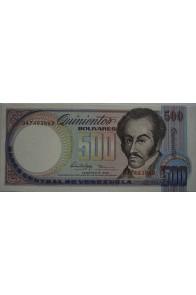 500 Bolívares Febrero 5 1988 Serie Q8