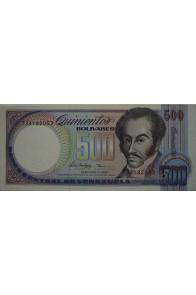 500 Bolívares Febrero 5 1988 Serie T8