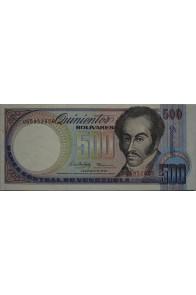 500 Bolívares Febrero 5 1988 Serie U8