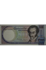 500 Bolívares Febrero 5 1988 Serie W8