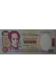 1000 Bolívares Febrero 5 1998 Serie J9