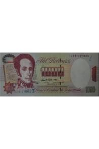 1000 Bolívares Febrero 5 1998 Serie L9