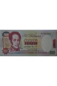 1000 Bolívares Agosto 6 1998 Serie M9