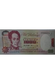 1000 Bolívares Agosto 6 1998 Serie Q8