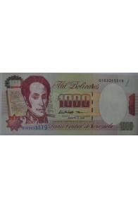 1000 Bolívares Agosto 6 1998 Serie Q9