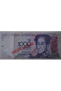 1000 Bolívares Espécimen Septiembre 10 1998 Serie A8 Anv