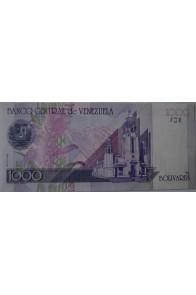 1000 Bolívares Espécimen Septiembre 10 1998 Serie A8 Rev