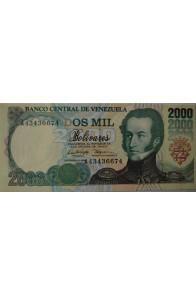 2000 Bolívares Diciembre 21 1995 Serie A8