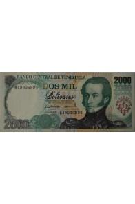 2000 Bolívares Junio 16 1997 Serie B8