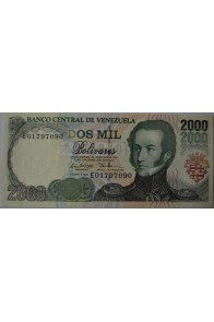 2000 Bolívares Agosto 6 1998 Serie E8