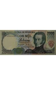 2000 Bolívares Agosto 6 1998 Serie F8