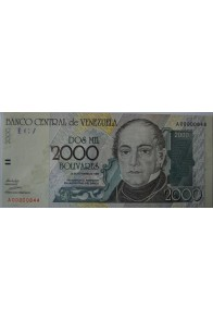 2000 Bolívares Octubre 29 1998 Serie A8