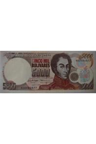 5000 Bolívares Marzo 14 1996 Serie A8
