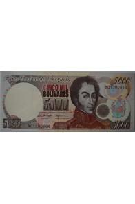 5000 Bolívares Marzo 14 1996 Serie B8