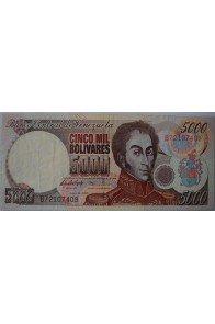 5000 Bolívares Junio 16 1997 Serie B8