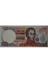 5000 Bolívares Junio 16 1997 Serie C8
