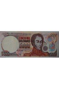 5000 Bolívares Febrero 10 1998 Serie D8