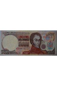 5000 Bolívares Agosto 6 1998 Serie D8