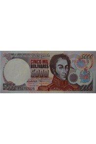 5000 Bolívares Agosto 6 1998 Serie F8