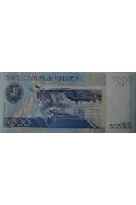 5000 Bolívares Espécimen Mayo 25 2000 Serie A8 Rev