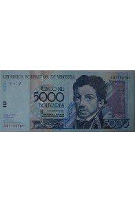5000 Bolívares Agosto 13 2002 Serie A8