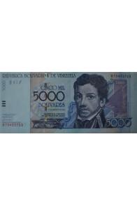 5000 Bolívares Agosto 13 2002 Serie B8