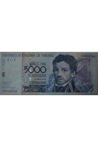 5000 Bolívares Agosto 13 2002 Serie Z8