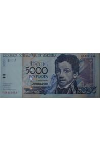 5000 Bolívares Mayo 25 2004 Serie C8