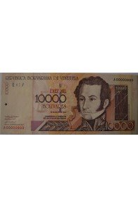 10000 Bolívares Mayo 25 2000 Serie A8