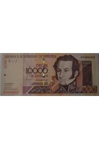 10000 Bolívares Agosto 16 2001 Serie B8