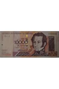 10000 Bolívares Agosto 16 2001 Serie C8