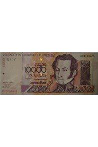 10000 Bolívares Agosto 13 2002 Serie D8