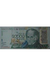 20000 Bolívares Agosto 24 1998 Serie A8