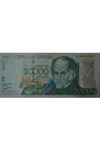 20000 Bolívares Agosto 24 1998 Serie B8