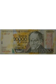 20000 Bolívares Agosto 16 2001 Serie A8