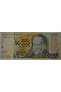 20000 Bolívares Agosto 16 2001 Serie B8
