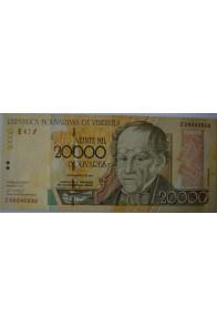 20000 Bolívares Agosto 16 2001 Serie Z8