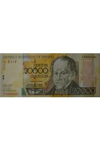20000 Bolívares Agosto 13 2002 Serie C8