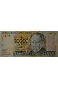 20000 Bolívares Mayo 25 2004 Serie D8