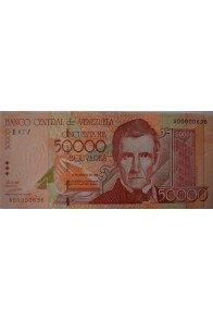 50000 Bolívares Agosto 24 1998 Serie A8