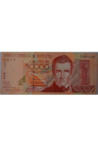 50000 Bolívares Agosto 24 1998 Serie Z8