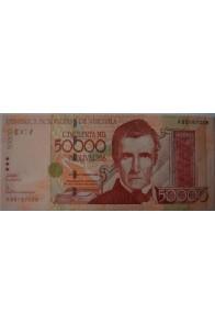 50000 Bolívares Septiembre 29 2005 Serie A8