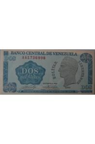 2 Bolívares Octubre 05 1989 Serie AA7