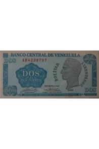 2 Bolívares Octubre 05 1989 Serie AB7