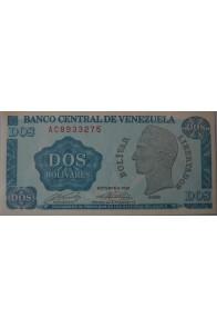 2 Bolívares Octubre 05 1989 Serie AC7