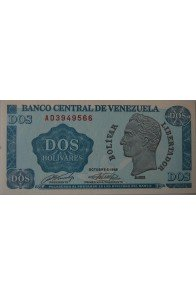 2 Bolívares Octubre 05 1989 Serie AD7