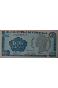 2 Bolívares Octubre 05 1989 Serie AE7