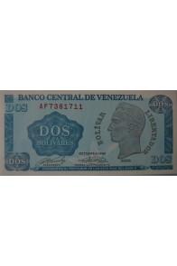 2 Bolívares Octubre 05 1989 Serie AF7