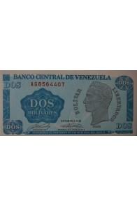 2 Bolívares Octubre 05 1989 Serie AG7