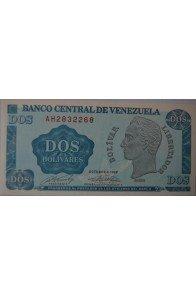 2 Bolívares Octubre 05 1989 Serie AH7